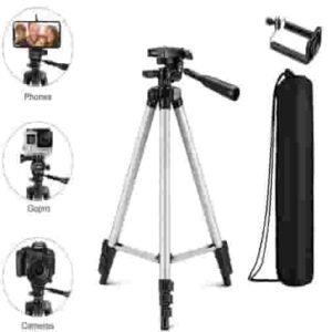 Portable and Foldable Tripod with Mobile Clip Holder Bracket
