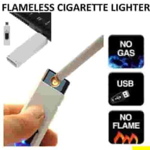 USB Cigarette Lighter Electronic Rechargeable Windproof Flameless