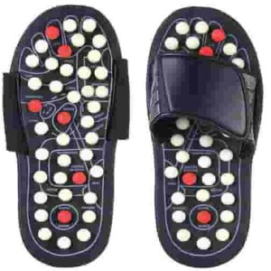 Acupressure and Magnetic Therapy Accu Paduka Slippers for Full Body Blood Circulation Natural Leg Foot Massager Slippers